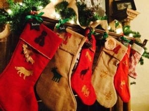 We crafted Christmas stockings this year!