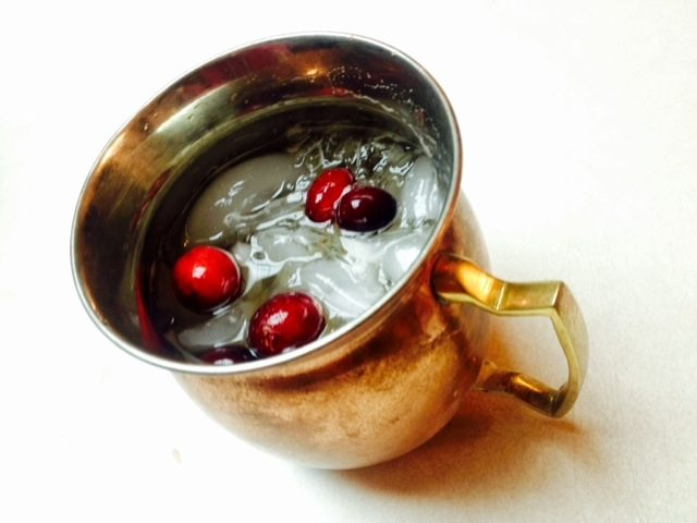 Christmas Cocktails-Cranberry Moscow Mule