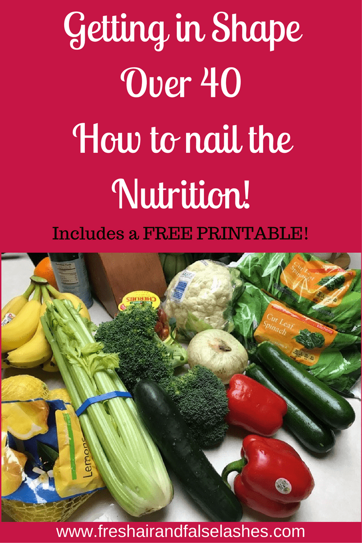 Getting in Shape Over 40 How to nail the Nutrition!