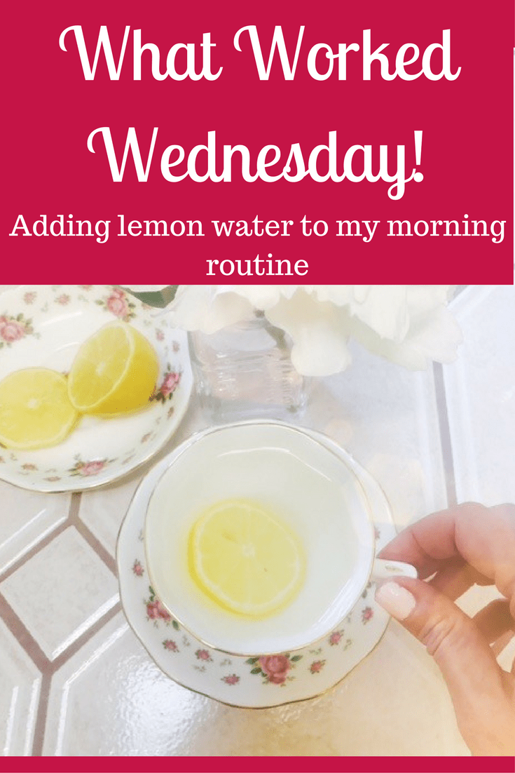 Adding lemon water in my morning routine