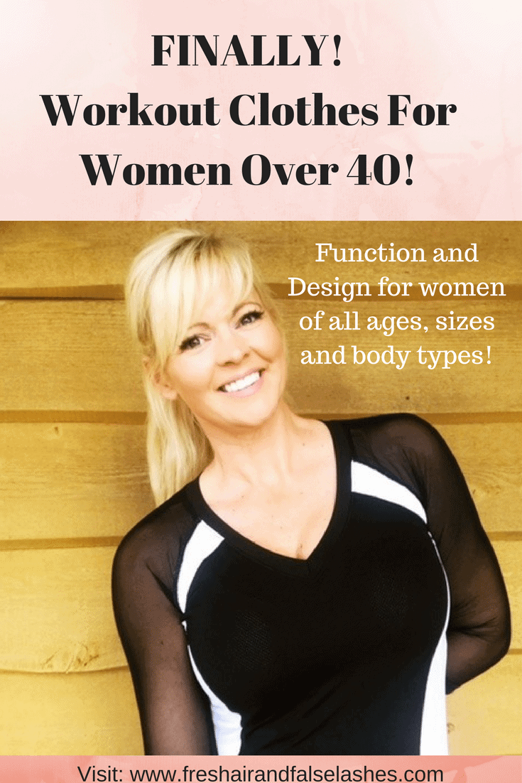 Specially designed workout clothes for women over 40. workout clothes over 40