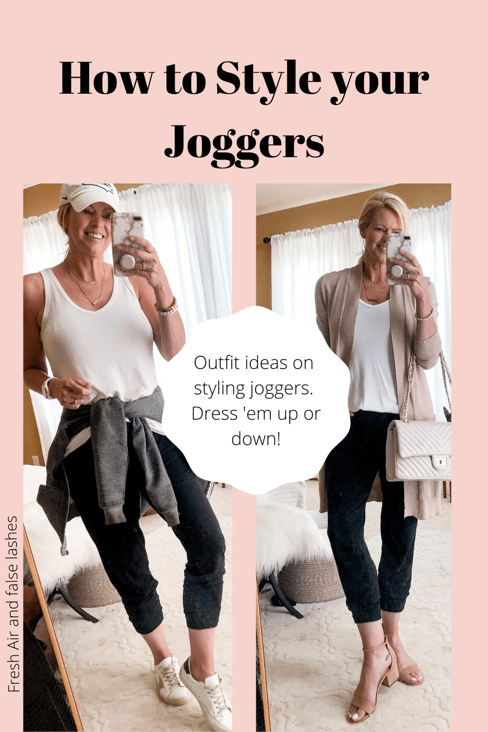 How to style joggers. Outfit ideas with joggers.