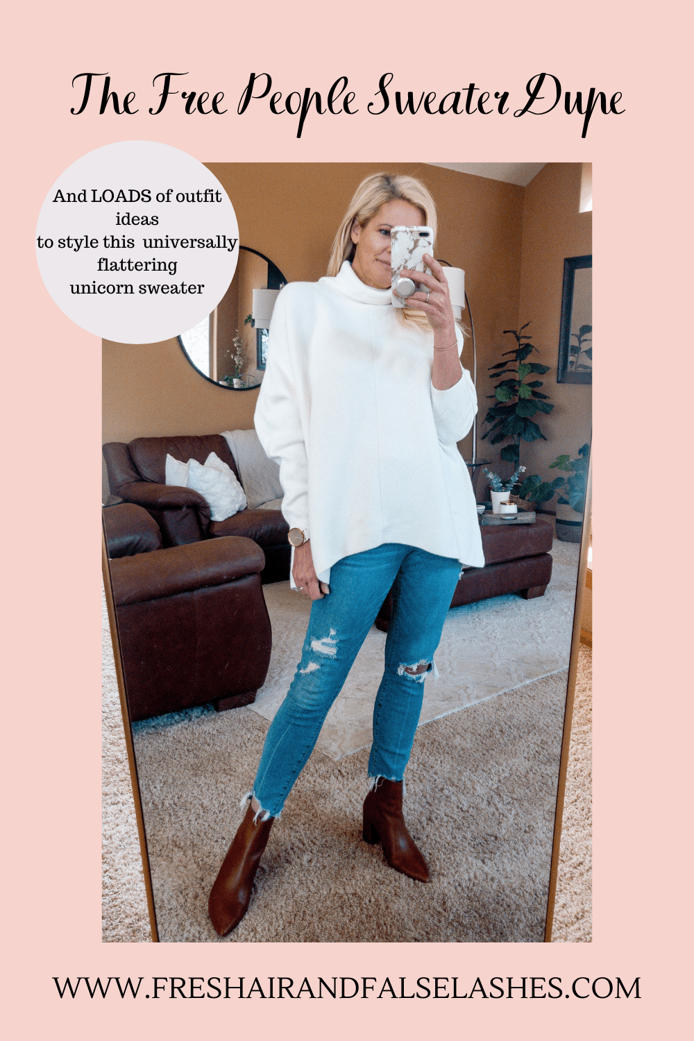 The Free People Sweater dupe and loads of ways to wear this unicorn of sweaters!